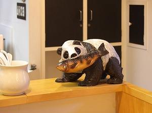 つけ麺烏城のマスコットパンダ